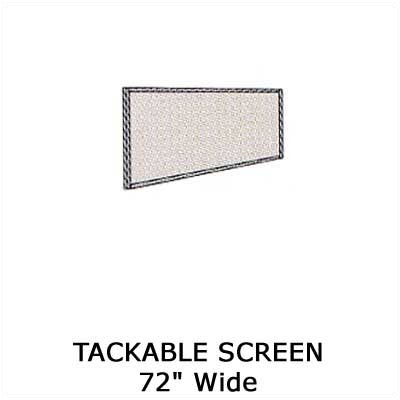 "Virco Plateau Office Series 72"" Tackable Screen"
