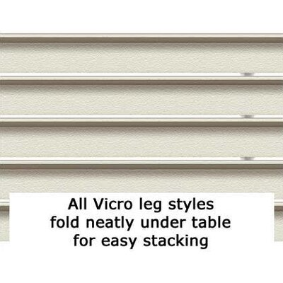 "Virco 6100 Series Adjustable Folding Table (30"" x 72"")"