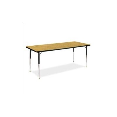 "Virco 4000 Series Activity Table with Non-Adjustable Chrome Legs (24"" x 48"")"