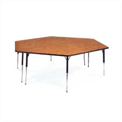 Virco 4000 Series Horseshoe Activity Table with Non-adjustable Chrome Legs
