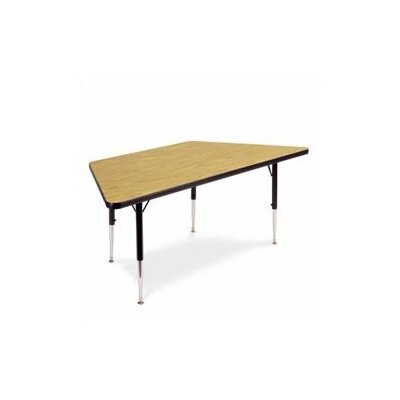"Virco 4000 Series Trapezoidal Activity Table with Non-adjustable Chrome Legs (42"" x 84"")"
