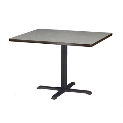 "Virco Lunada Cross-Shaped Cast Iron Table Base (22"" x 30"" x 29"")"