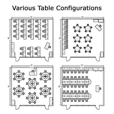"Virco 8700 Series 42"" Trapezoidal Computer Table, 42"" x 42"" x 42"" x 84"""