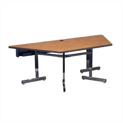 Virco 8700 Series 42&quot; Trapezoidal Computer Table, 42&quot; x 42&quot; x 42&quot; x 84&quot;