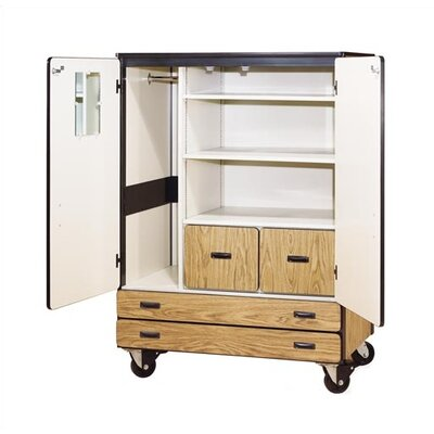 Virco 2500 Series Mobile Cabinet with Shelves and Drawers