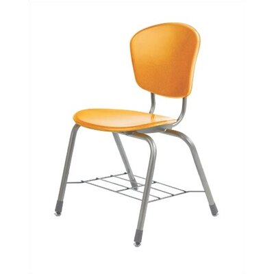 "Virco Zuma 18.25"" Plastic Classroom Chair with Wire Bookrack"