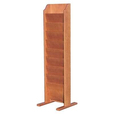 Virco Wooden Literature Display, 10 Pockets