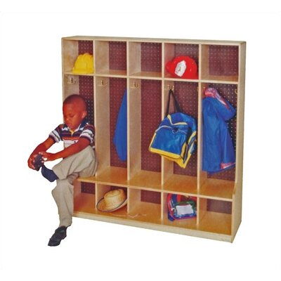 "Virco 5-Section Seat Locker (54"" x 48"")"
