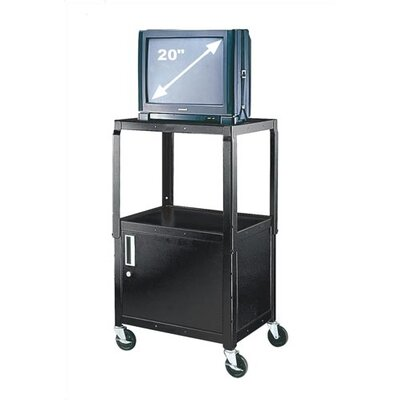 Virco Adjustable Height Utility Cart with Locking Cabinet