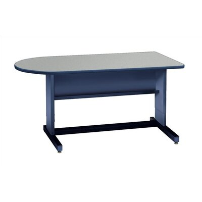 "Virco 60"" D Bullet Writing Desk"