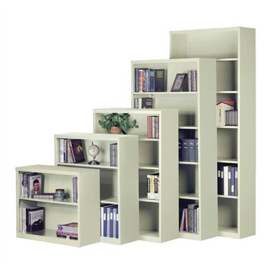 "Virco 72"" H Steel Five Shelf Bookcase"