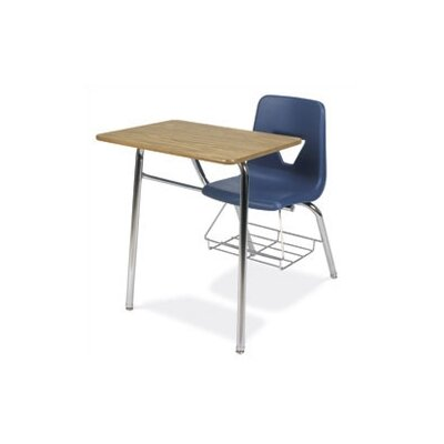 "Virco 2000 Series 31"" Plastic Chair Desk with Bookrack"