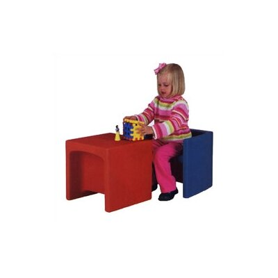 Virco Educubes Kid's Table and Novelty Chair Set