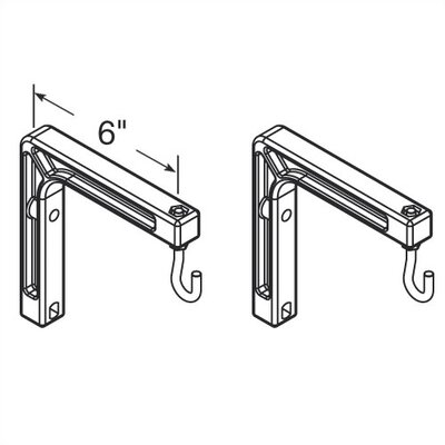 Virco 2 Wall Mount Brackets for Projection Screens
