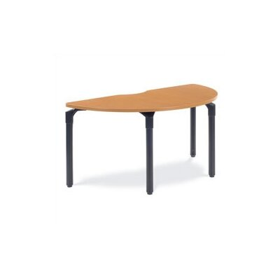 "Virco Half Round Plateau Table - 27"" High"