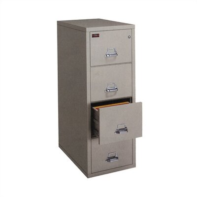 Virco Fire-Resistant Four-Drawer Vertical Legal File