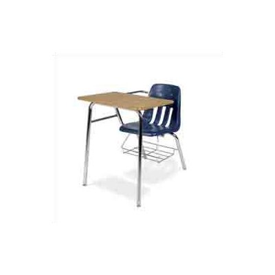 "Virco 9000 Series 30.5"" Plastic Chair Desk with Tablet Arm"