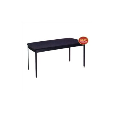 "Virco Chemsurf® Laminate Black Top Science Table (24"" x 54"") with Steel Frame"