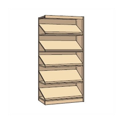 "Virco Single-Faced Library Periodical Shelving Addition (82"" x 37"")"