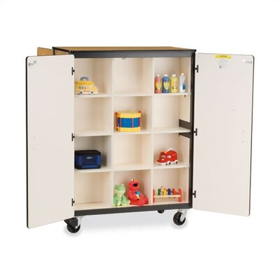 "Virco 66"" H Mobile Storage Cabinet with 12 Cubicles"