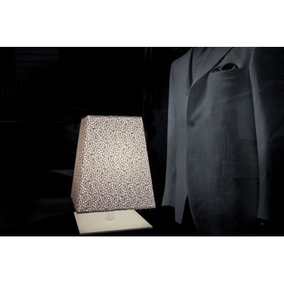 "Contardi Quadra Lisbona 12"" H Table Lamp with Rectangle Shade"