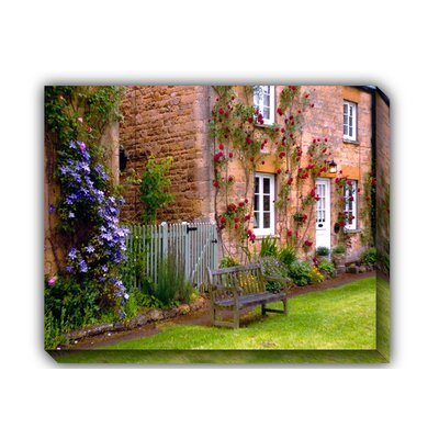 Village Bench Outdoor Canvas Art