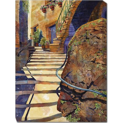 Stairs of Stroncone Painting Print on Canvas
