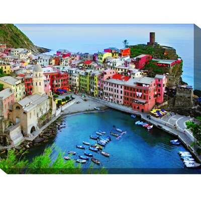 West of the Wind Outdoor Canvas Art Overlook Vernazza Outdoor Canvas Art