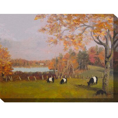 Fall Galloways Painting Print on Canvas