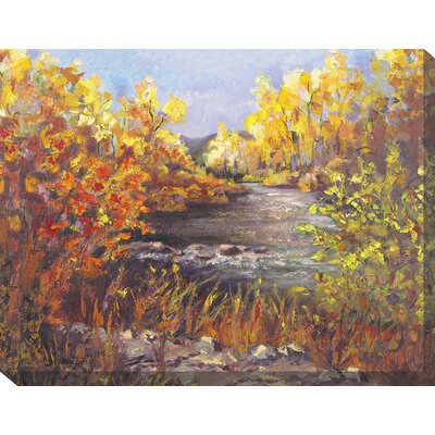 River Rapture Painting Print on Canvas