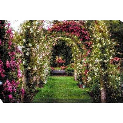 West of the Wind Outdoor Canvas Art Rose Promenade Art Painting