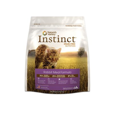 Nature's Variety Instinct Grain-Free Rabbit Meal Dry Cat Food