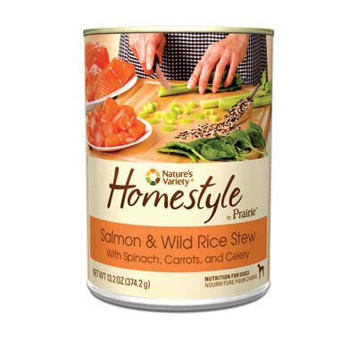 Prairie Homestyle Salmon and Wild Rice Stew Canned Dog Food (13.2-oz, case of 12)
