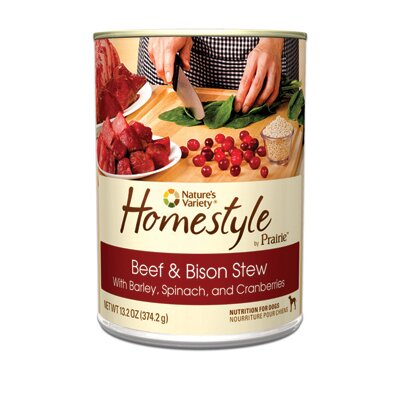 Prairie Homestyle Beef and Bison Stew Canned Dog Food (13.2-oz, case of 12)