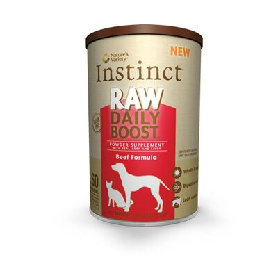 Nature's Variety Instinct Raw Daily Boost Freeze Dried Supplement Beef Formula Treat