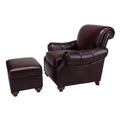 Fitzgerald Reclining Leather Chair and Ottoman