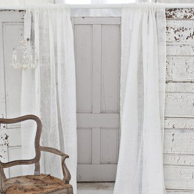 Couture Dreams Solid Linen Rod Pocket Curtain Single Panel