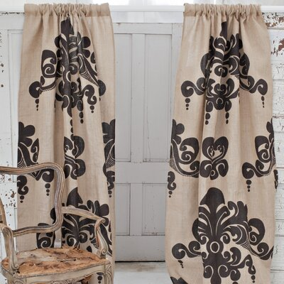 Couture Dreams Enchantique Jute Rod Pocket Curtain Single Panel