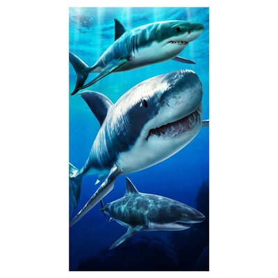 Open Box Price Sharks Beach Towel