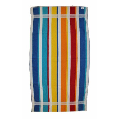 Kaufman Sales Joey Velour Stripe Beach Towel/Bath Sheet
