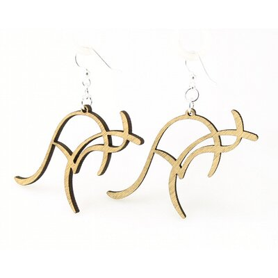 Green Tree Jewelry Kangaroo Earrings