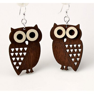 Green Tree Jewelry Little Hoot Owls Earrings