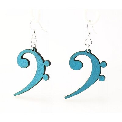Bass Clef Drop Earrings