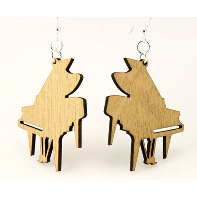 Green Tree Jewelry Grand Piano Earrings
