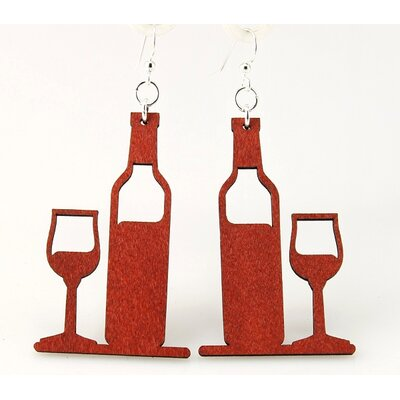 Wine and Glass Earrings