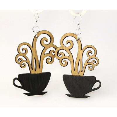 Green Tree Jewelry Coffee Cups Earrings