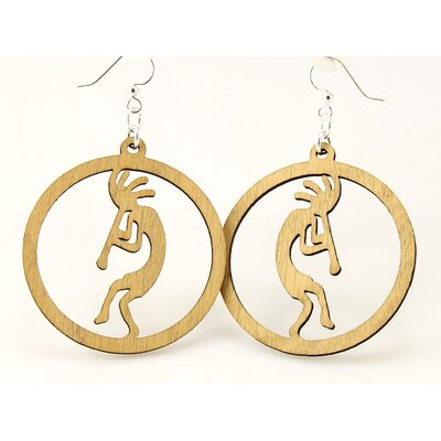 Circled Kokopelli Earrings