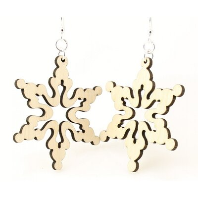 Green Tree Jewelry Cloudy Snowflake Earrings