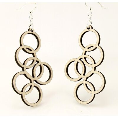 Green Tree Jewelry Interlocking Circles Earrings