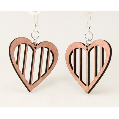 Slotted Heart Earrings